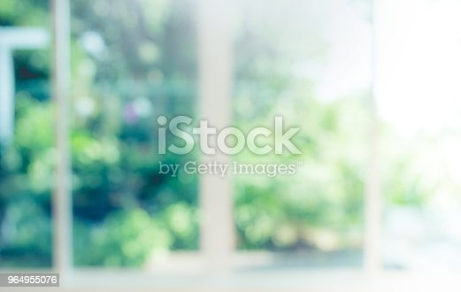 Blur of abstract green garden background in morning
