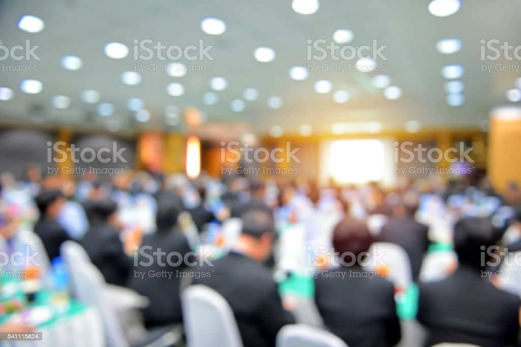 Blur of business Conference and Presentation in the conference h stock photo