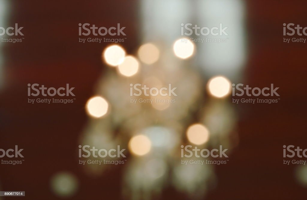 blur of ceiling electric lamp background