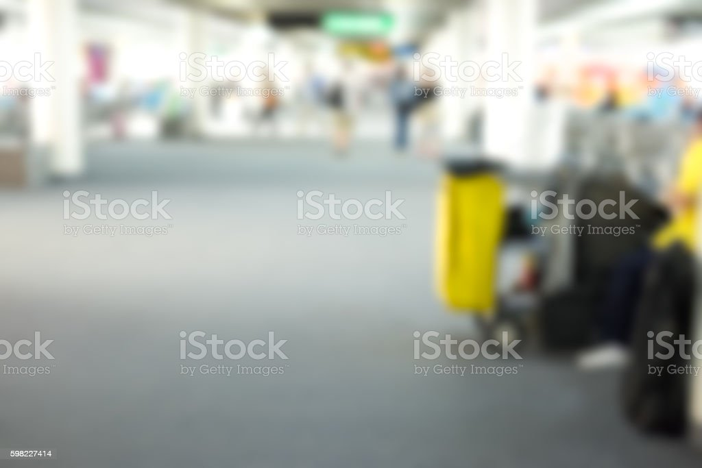 blur of cleaning equipment in the airport foto royalty-free