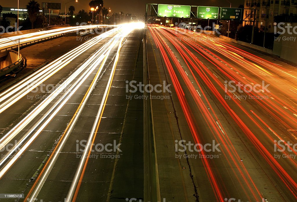 Blur of Traffic royalty-free stock photo