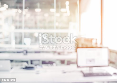 istock Blur office background 683461608