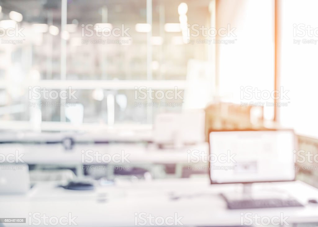 Blur office background stock photo