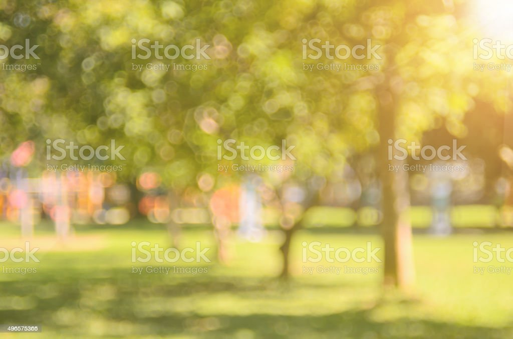 Blur park abstract background. stock photo