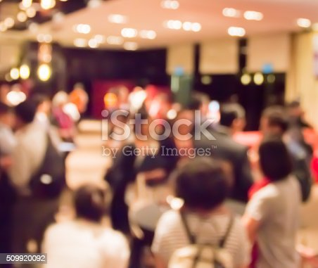 istock blur people at  dinner  party in dining room 509920092