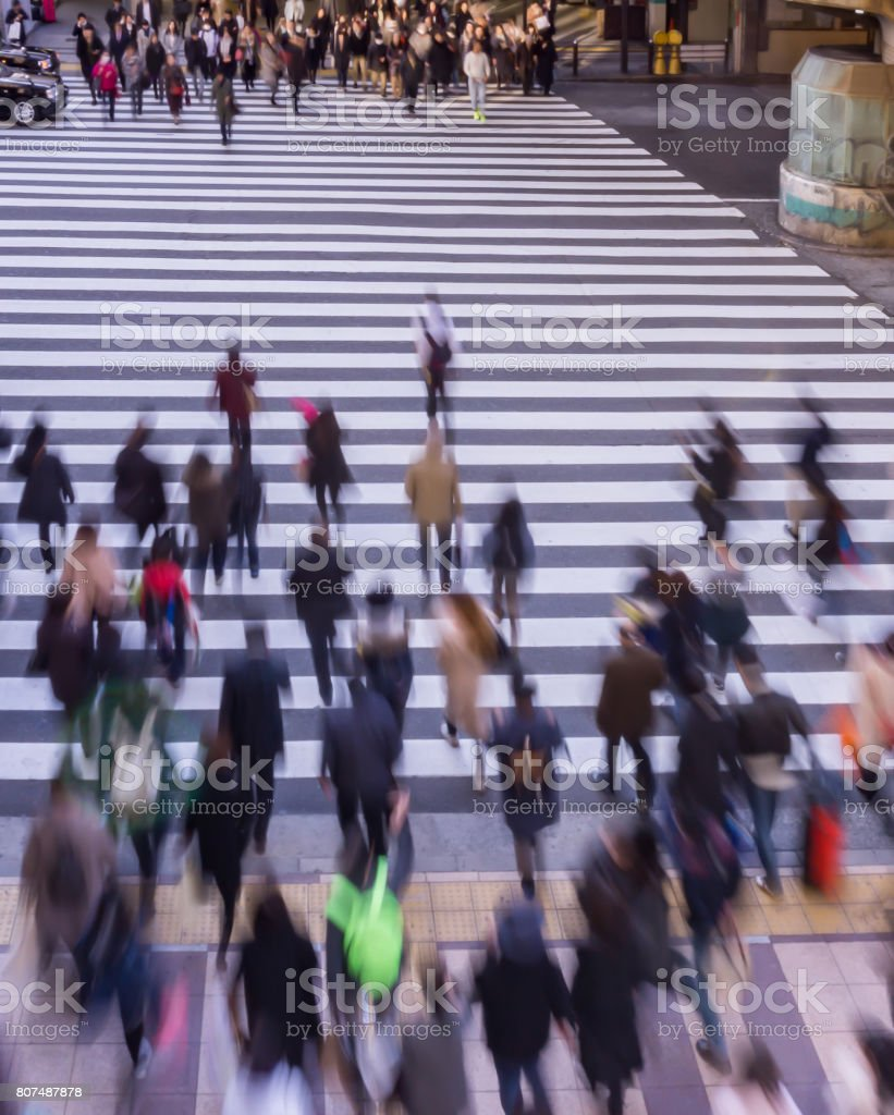 Blur Photography of Pedestrian crossing . stock photo