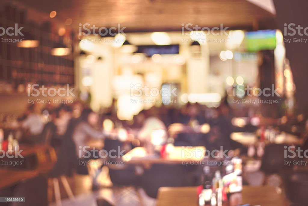 Blur restaurant - vintage effect style picture stock photo