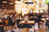 ぼやけたレストラン「ヴィンテージエフェクトスタイルの写真
