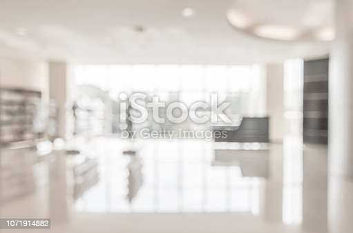 istock Blur school library or office lobby waiting area for educational business background 1071914882