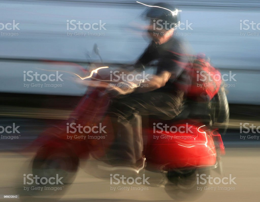 Blur Scooter royalty-free stock photo