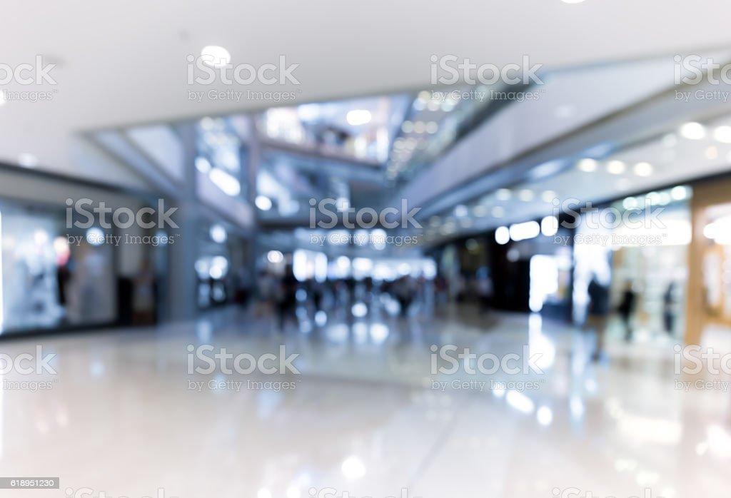 blur shopping mall background stock photo