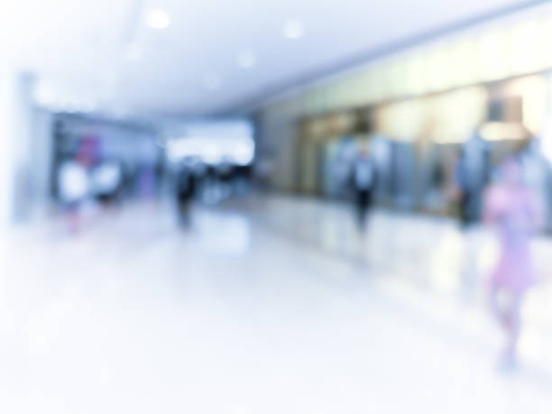 blur shopping mall background - incidental people stock pictures, royalty-free photos & images