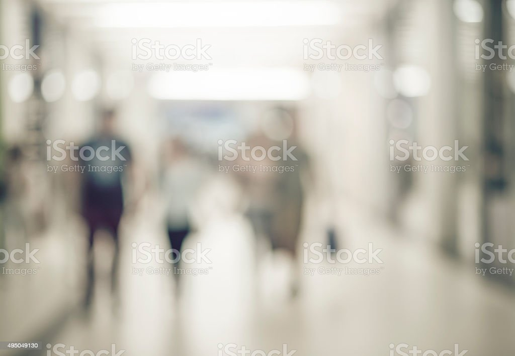 Blur store with bokeh background - Royalty-free 2015 Stock Photo