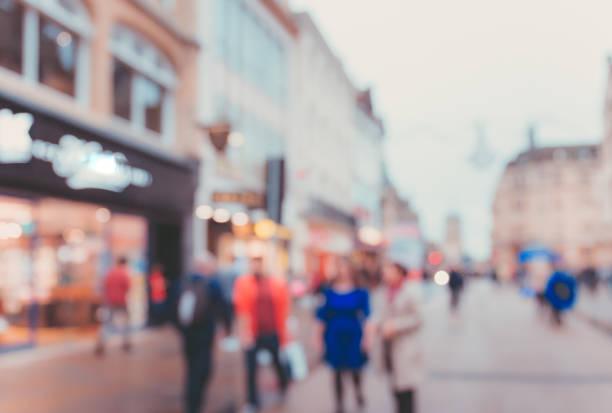 Blur Street background at Oxford, UK stock photo