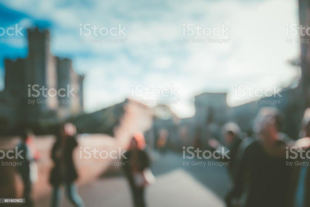 Blur Street background at Windsor, UK stock photo