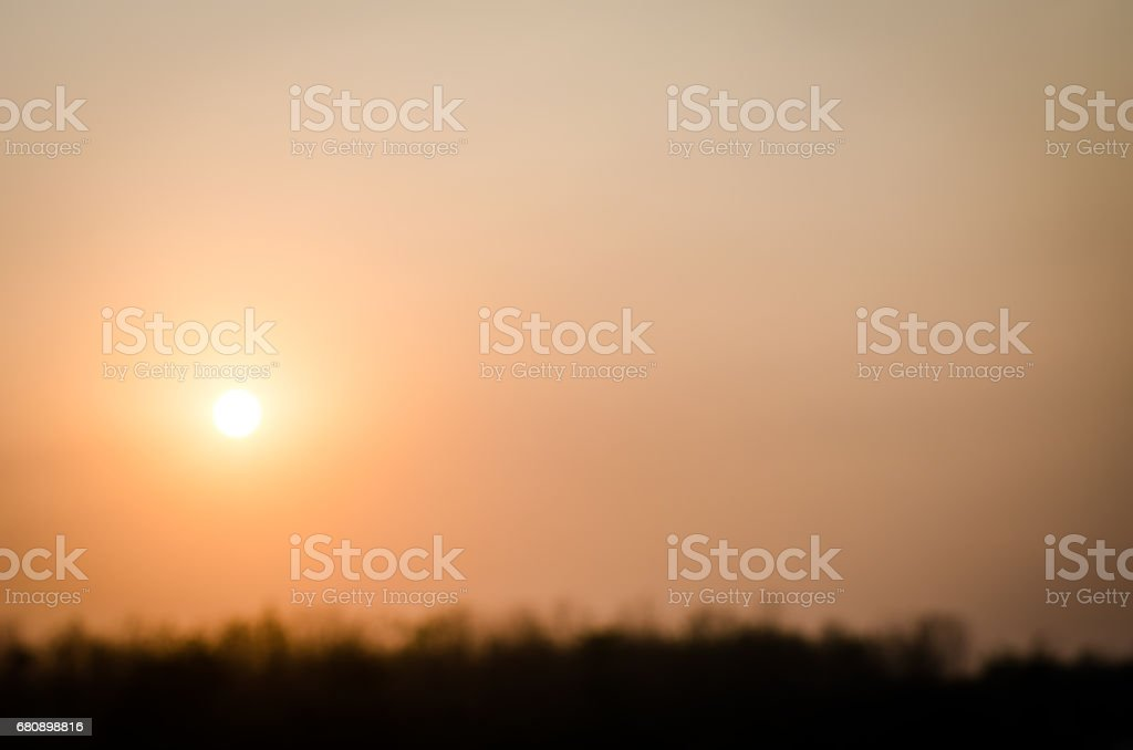 Blur sunset in the field. royalty-free stock photo