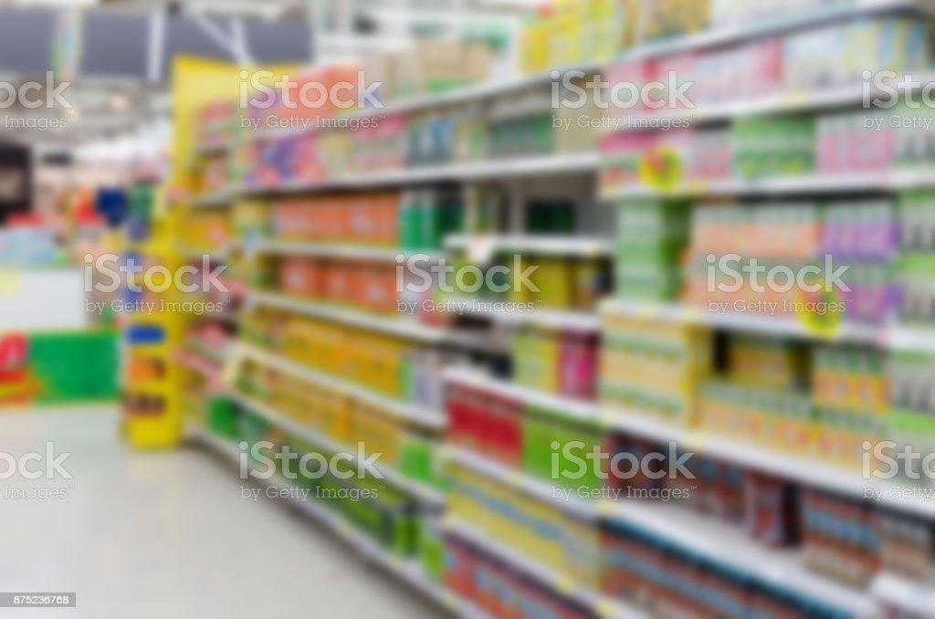 blur supermarket food stock photo