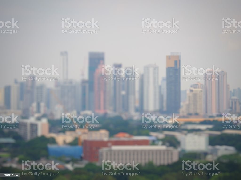 Blur the tall buildings royalty-free stock photo