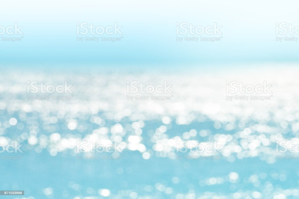 Blur tropical sea water bokeh background stock photo