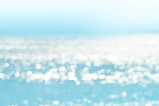 Blur tropical sea water bokeh background stock photo