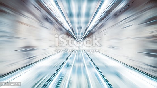 Blur zoom abstract background wallpaper, vanishing point deminishing perspective. Information technology, internet connection, or financial business concept
