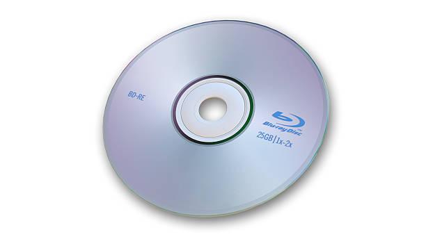 blu-ray cent sur un arrière-plan blanc - blu ray disc photos et images de collection
