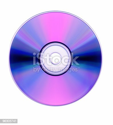 Blank Blu Ray DVD ready to burn information, isolated on white. dust and scratch free