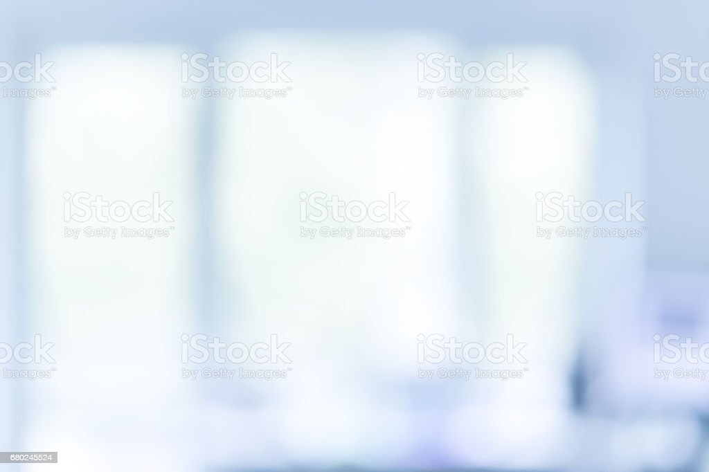 Blured office or medical background. Bright and clean stock photo