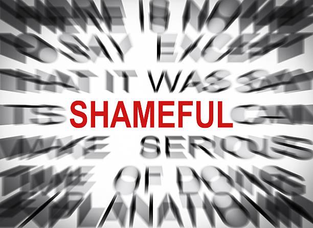 blured texto con enfoque en vergonzosa - vergüenza fotografías e imágenes de stock