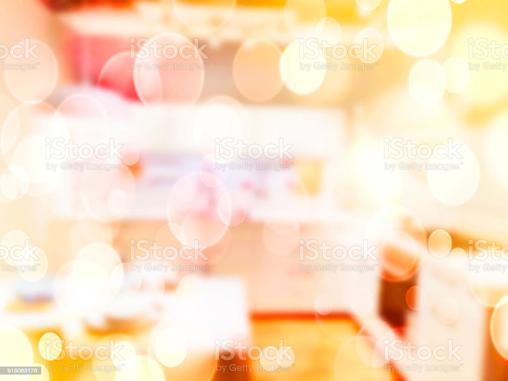 Blurred abstract background. Interior furniture store