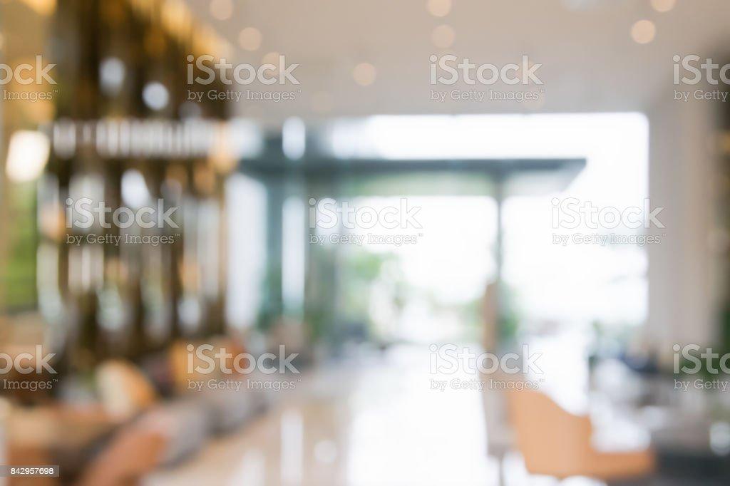 abstrakte Hintergrundunschärfe Innenansicht im Inneren Rezeption Hotels oder moderne Flur für Hintergrund – Foto