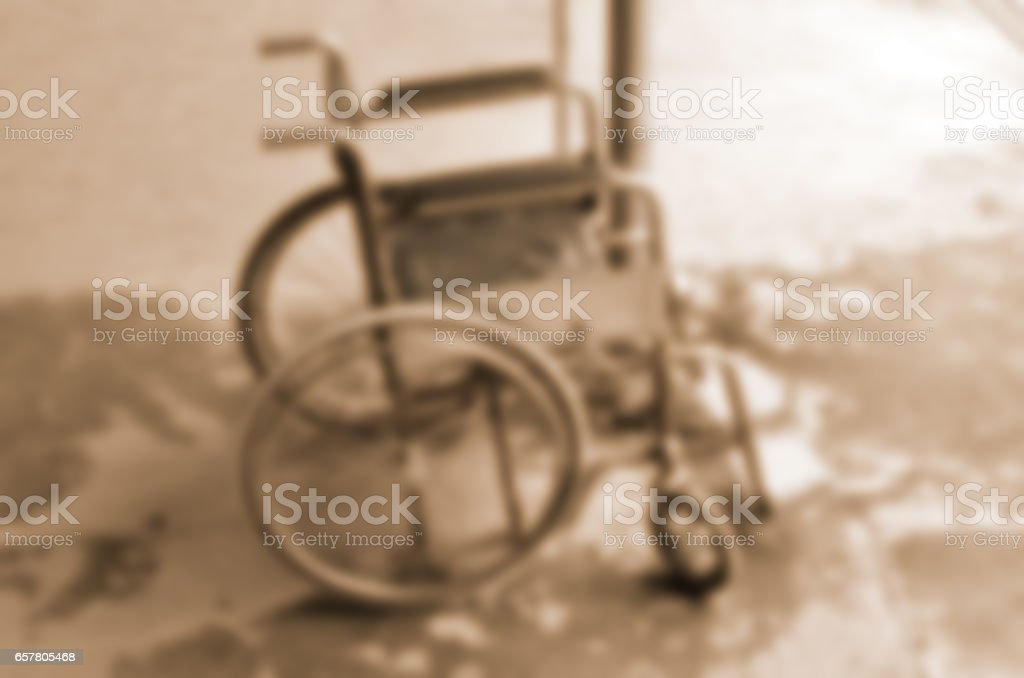 Blurred abstract background of Chair disabled stock photo