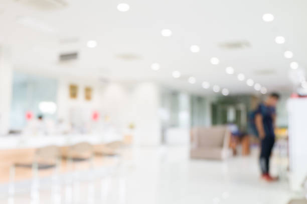 Blurred abstract background of office or hospital location. stock photo