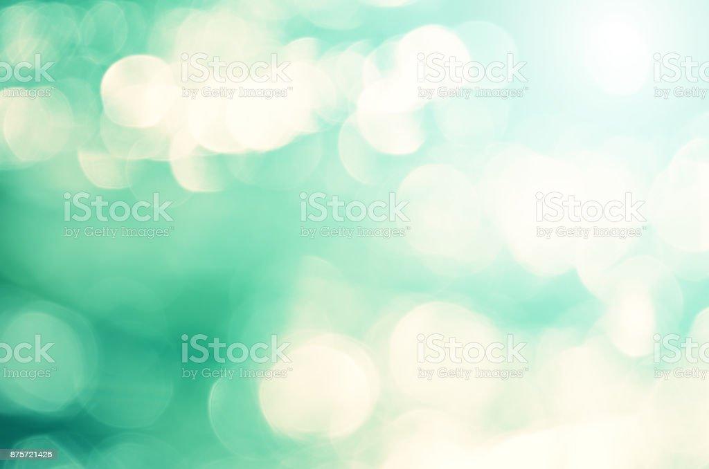 Fondo abstracto borroso del Esmeralda. Bokeh.Teal luz. - foto de stock
