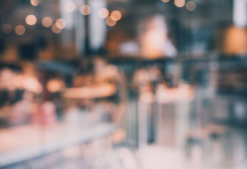 664975574 istock photo Blurred abstract glass wall cafe,restaurant background.material decoration design 972665350