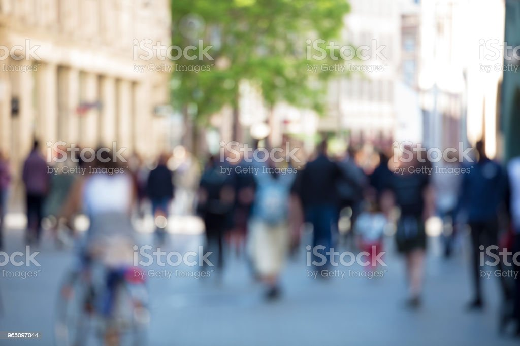 Blurred abstract people crowd royalty-free stock photo
