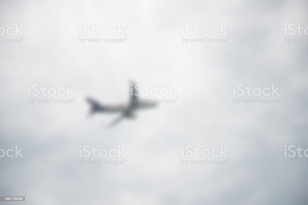 blurred Airplane stock photo
