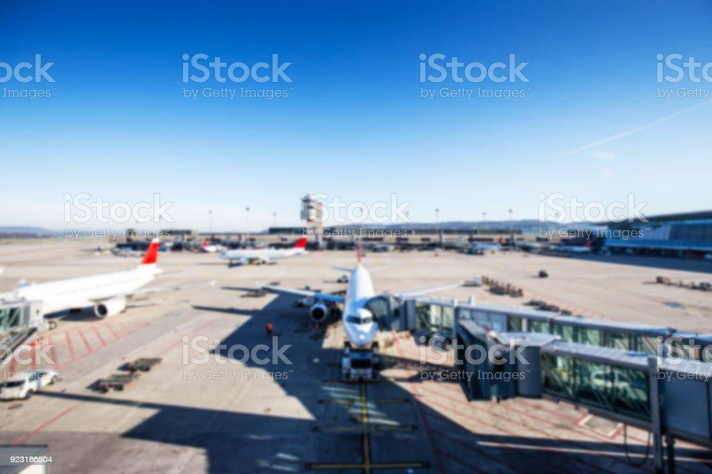 Blurred airport stock photo