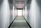 Blurred Airport walkway for background