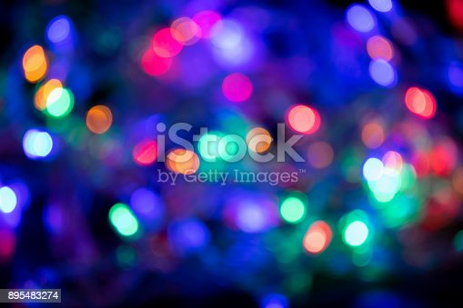 istock Blurred and defocused colorful lights abstract backgroun 895483274