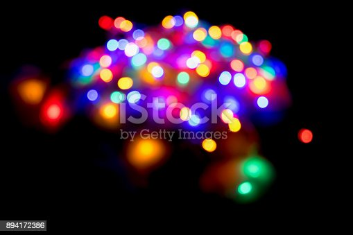 istock Blurred and defocused colorful lights abstract background 894172386