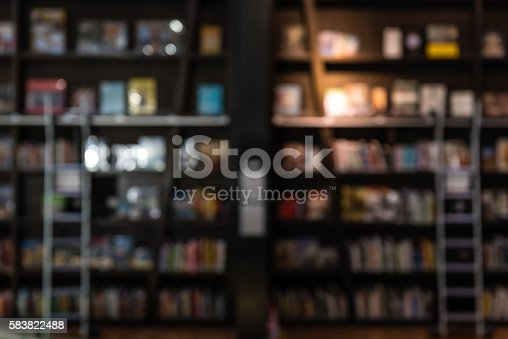 istock blurred backgroun of bookshelf in a library 583822488