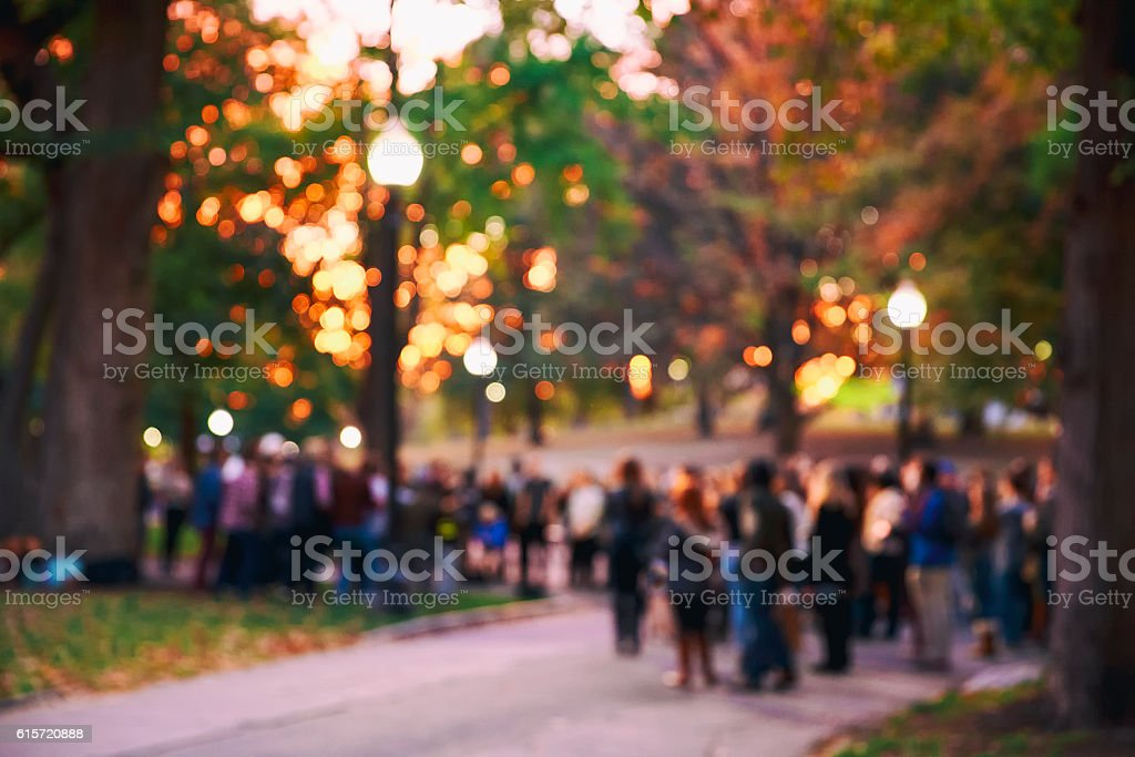 blurred background a crowd of people stock photo