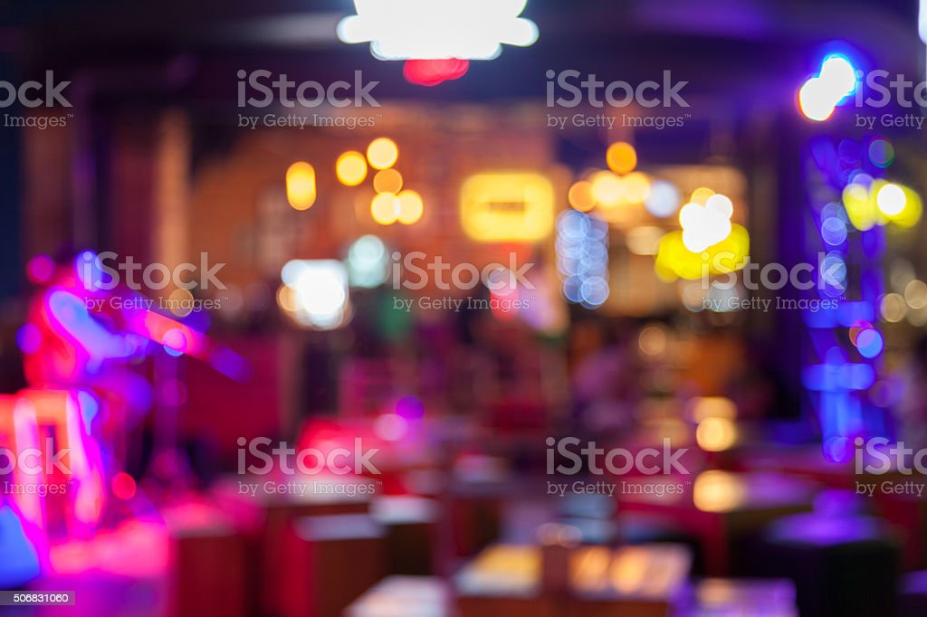 Blurred background – bar and restaurant at night
