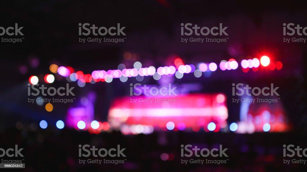 Blurred background : Bokeh lighting in concert. stock photo