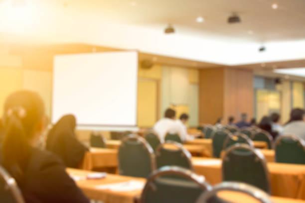Negócio de fundo desfocado reunião conferência formação conceito de Coaching de aprendizagem. - foto de acervo