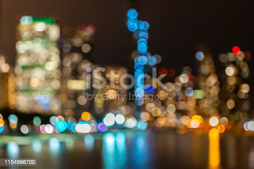 istock Blurred background  Chicago downtown and Lake Michigan 1154996700