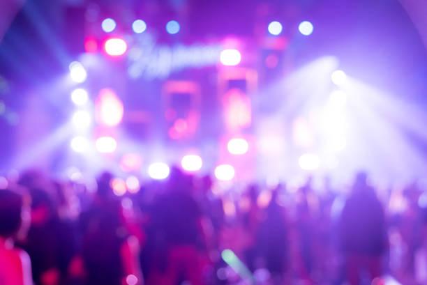 suddig bakgrund konsert - disco lights bildbanksfoton och bilder