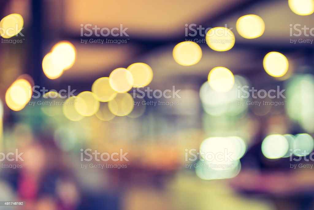 Blurred background : Customer at cafe blur background with bokeh stock photo