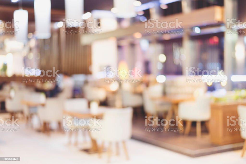 Achtergrond wazig: klant bij restaurant achtergrond met bokeh wazig. - Royalty-free Avondmaaltijd Stockfoto